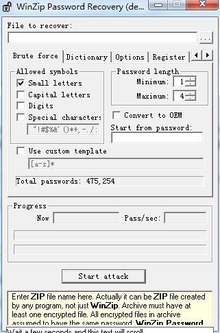WinZip Password Recovery